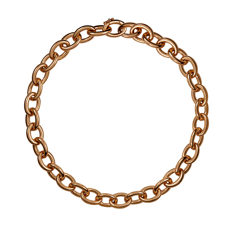 Collar oval eslabón mini oro rosa, J00906-03, hi-res