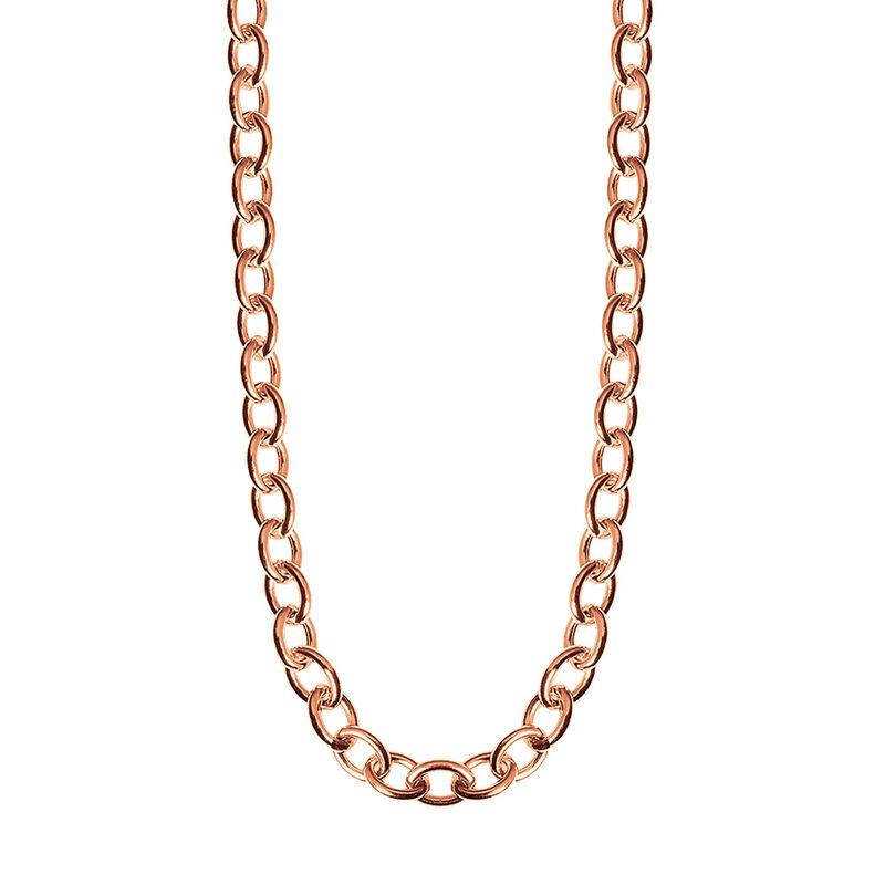 Collier maxi forat en argent plaqué or rose, J01919-03-85, hi-res