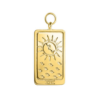 Gold plated La Lune card pendant, J04039-02, hi-res
