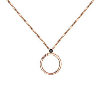 Colgante círculo espinela plata recubierta oro rosa, J03692-03-BSN, hi-res