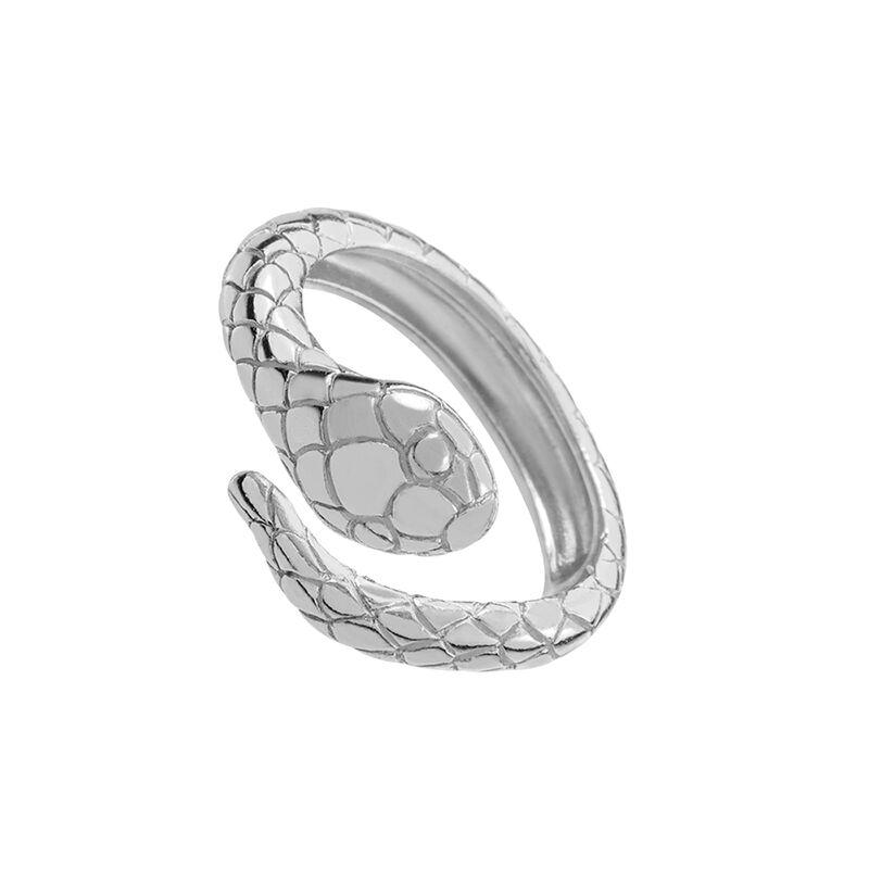 Silver snake ring, J01982-01, hi-res