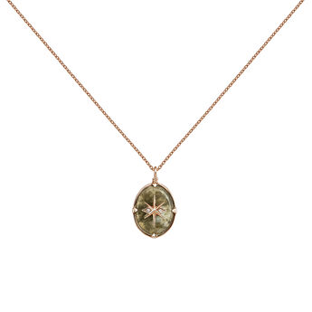 Rose-Gold Star Bohemian Necklace, J03903-03-LA-WT, hi-res