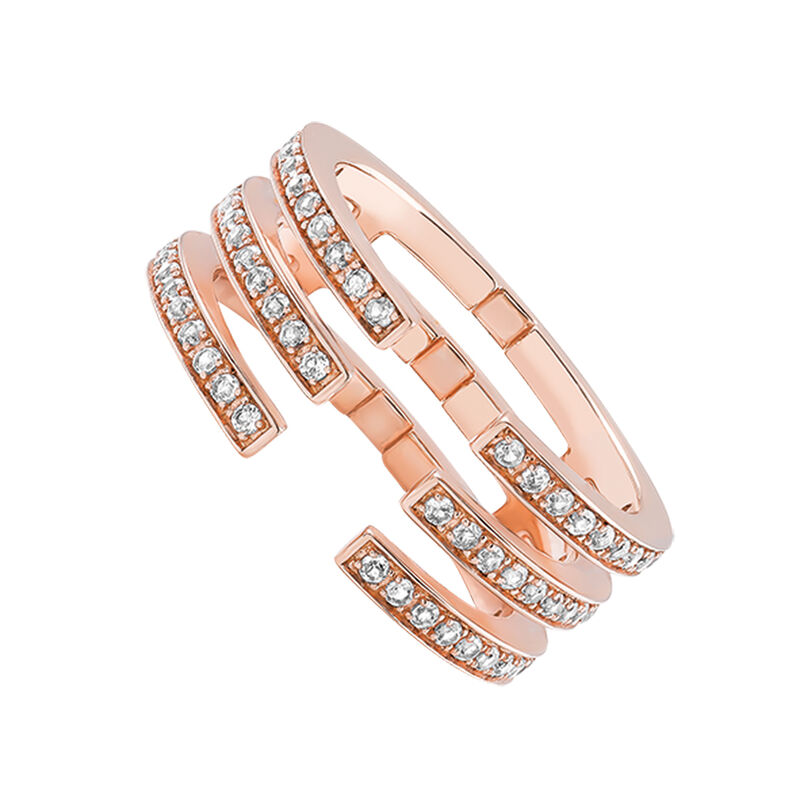 Rose gold triple topaz ring, J03262-03-WT, hi-res