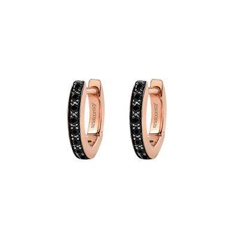 Pendientes aro mini espinela plata recubierta oro rosa, J03288-03-BSN, hi-res