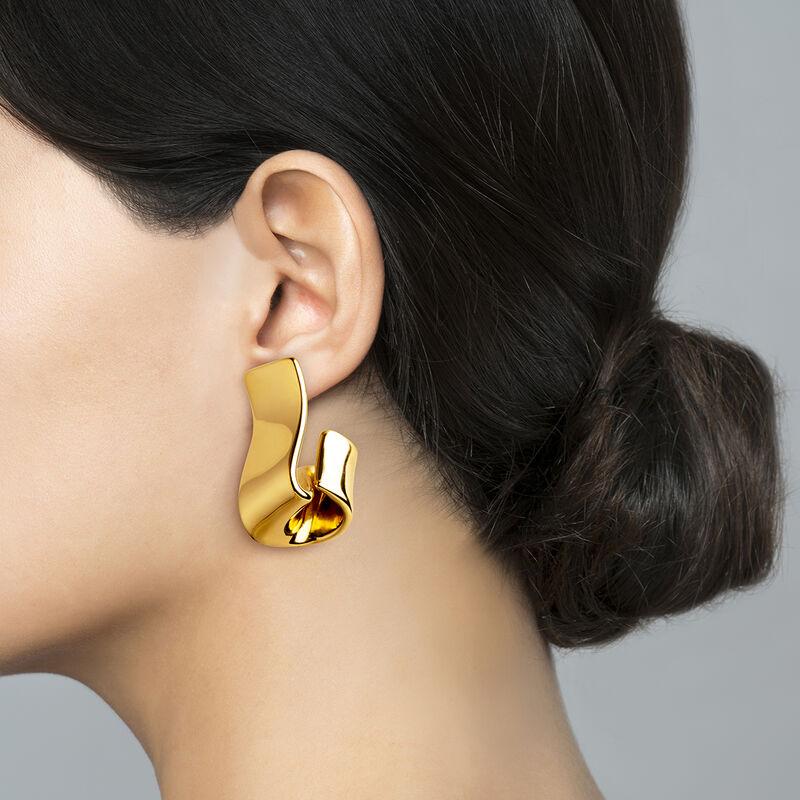 Pendientes escultóricos oro, J03507-02, hi-res