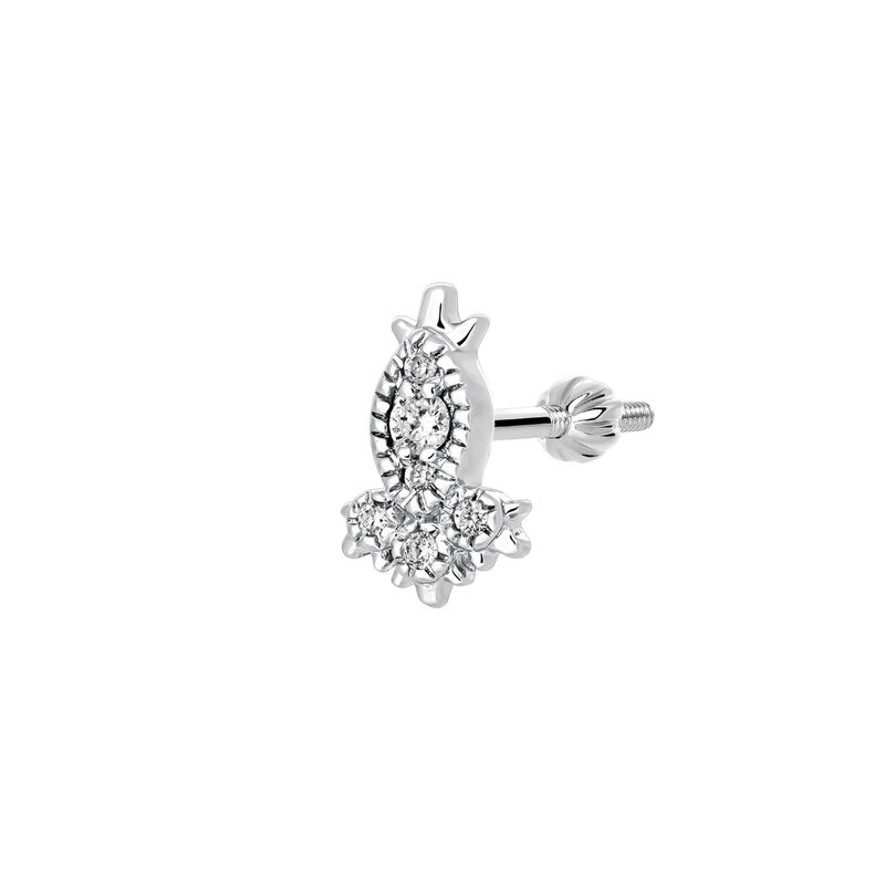 Marquise diamond earring piercing 0.028 ct, J03383-01-H, hi-res