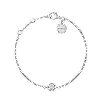 White gold diamonds circle bracelet 0.1 ct, J03020-01-10-GVS, hi-res