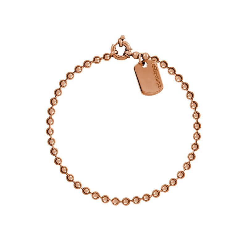 Pulsera bolas plata recubierta oro rosa, J01449-03, hi-res