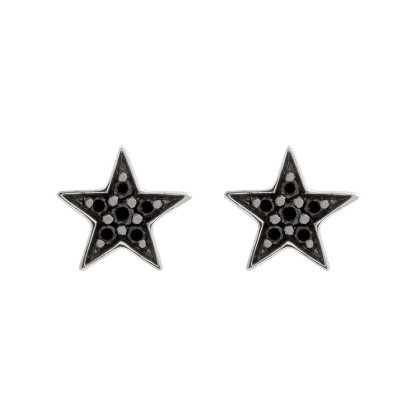 Pendientes estrella espinela plata, J01858-01-BSN, hi-res