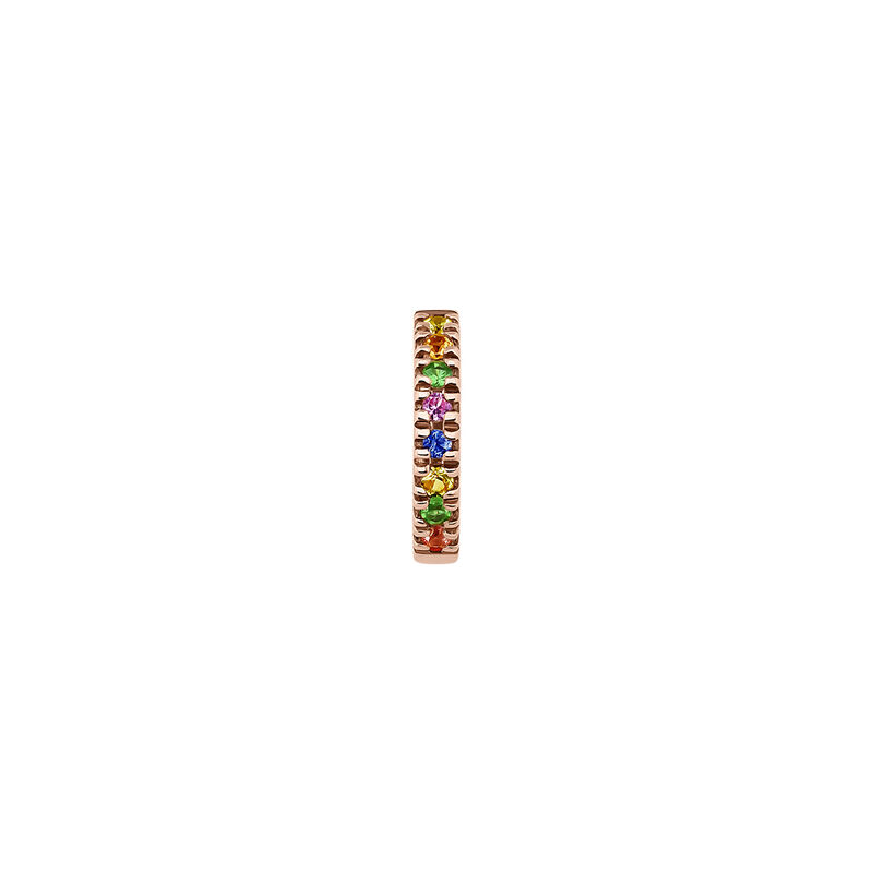 Rose gold multicolor sapphire and tsavorite bracelet, J04333-03-MULTI-H, hi-res