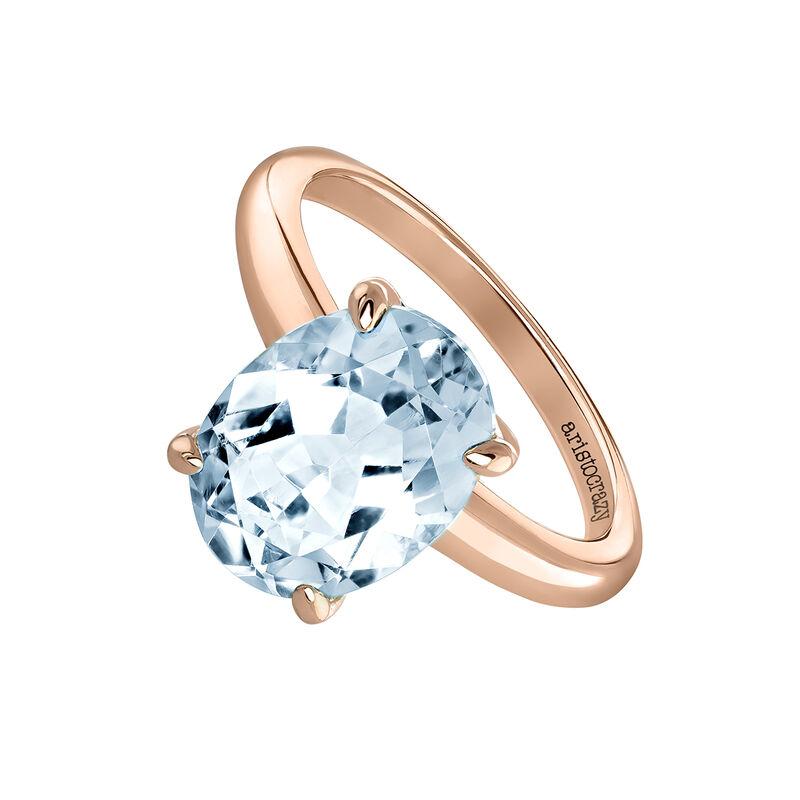 Rose gold large oval topaz ring, J03816-03-SKY, hi-res