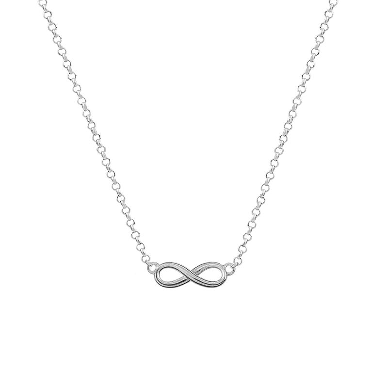 Silver infinity necklace, J01248-01, hi-res