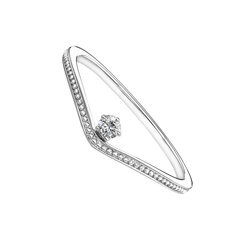 White gold diamond curve ring 0.6 ct, J03931-01, hi-res
