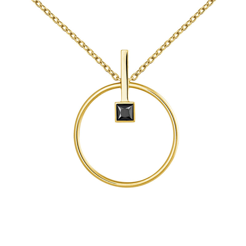 Necklace spinel gold, J04062-02-BSN, hi-res