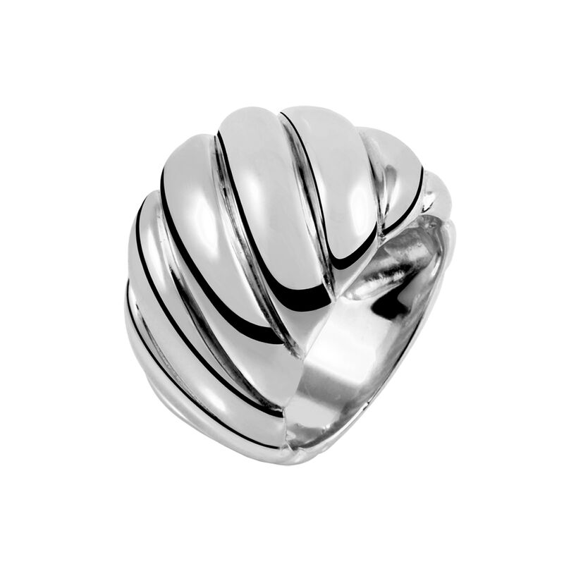 Silver large cabled ring, J01439-01, hi-res