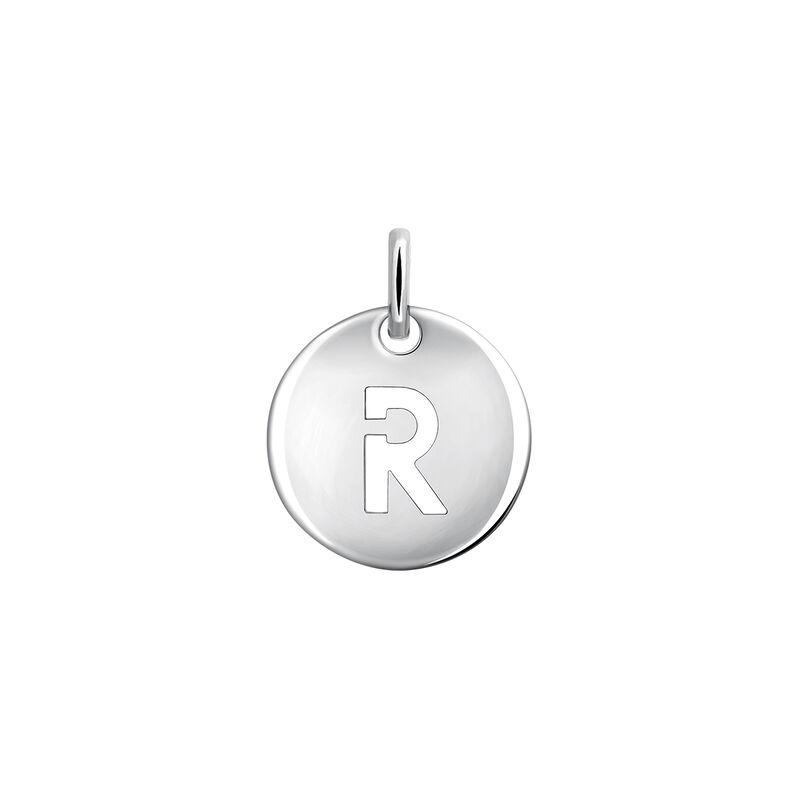 Silver R letter necklace, J03455-01-R, hi-res