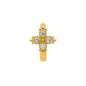 Boucle d'oreille créole diamants or 0,033 ct, J03386-02-H, hi-res