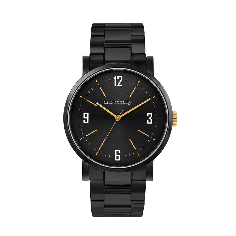 Brooklyn watch bracelet black face, W45A-BLBLBL-AXBL, hi-res