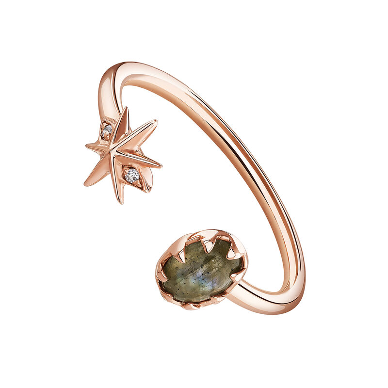 Rose-Gold Gemstone Bohemian Ring, J03888-03-LA-WT, hi-res