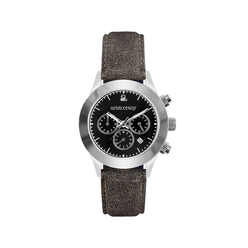 Soho watch grey strap black face, W29A-STSTBL-FAGR, hi-res