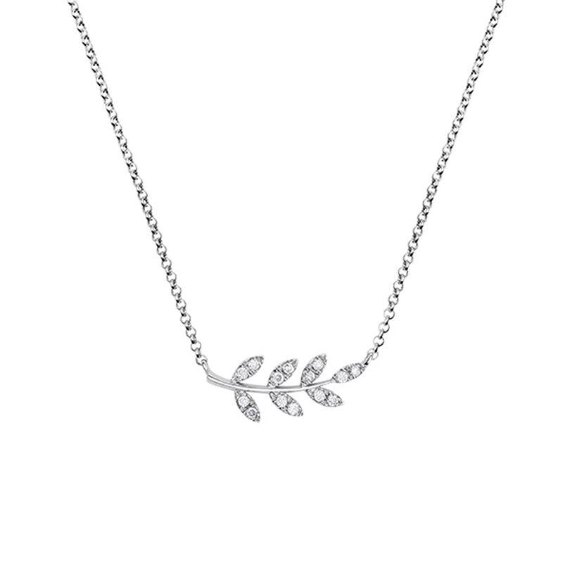 Colgante hojas diamantes plata, J03122-01-GD, hi-res