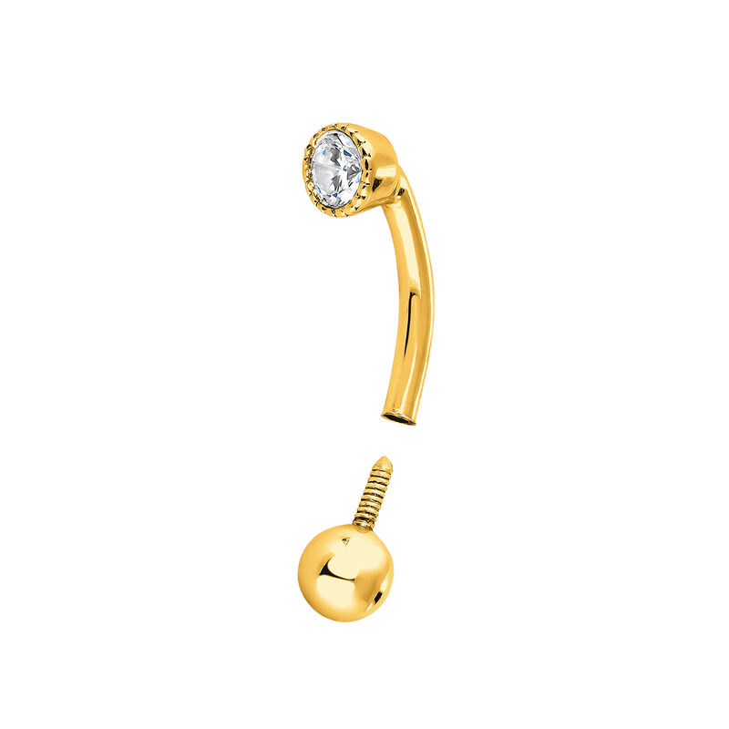 Pendiente piercing mini diamante 0,07 ct oro, J04288-02-H-18, hi-res