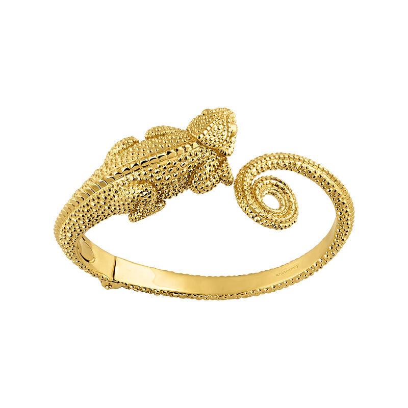 Gold plated chamaleon bangle, J04201-02, hi-res