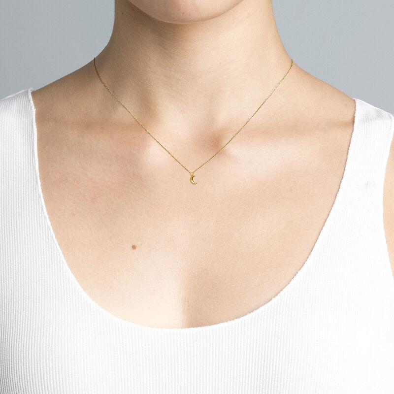 Gold moon necklace, J04544-02, hi-res