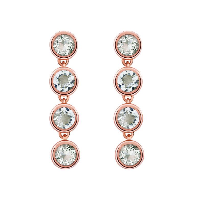 Long rose gold plated quartz earrings, J03006-03-GQ, hi-res