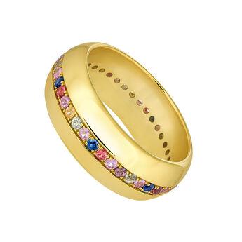 Large gold sapphires ring, J04105-02-MULTI, hi-res