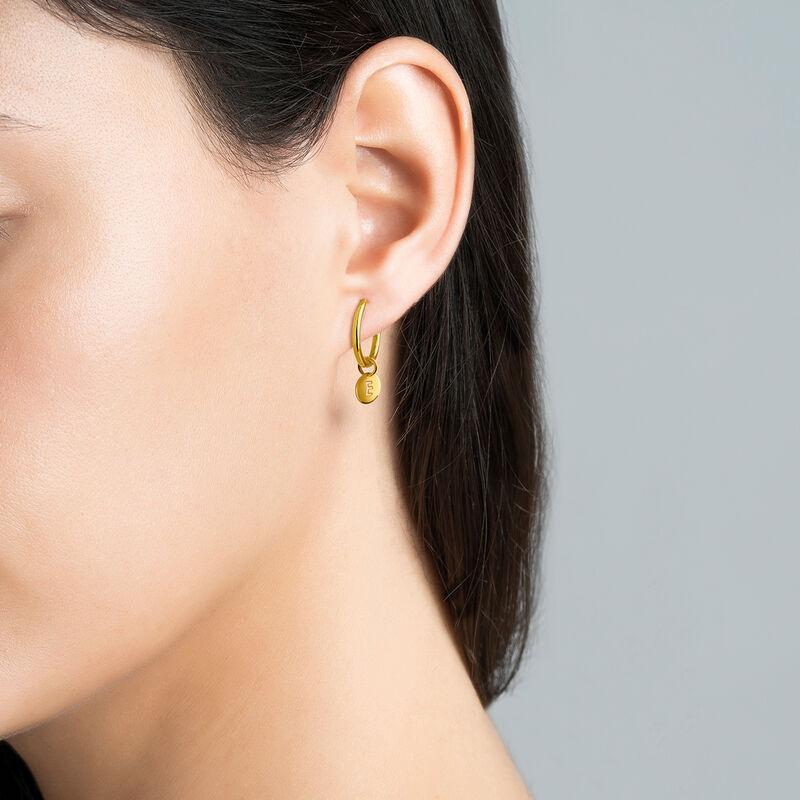 Gold E letter necklace, J03455-02-E, hi-res