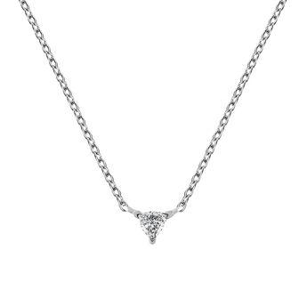Colgante triángulo diamante 0,06 ct oro blanco, J03364-01, hi-res