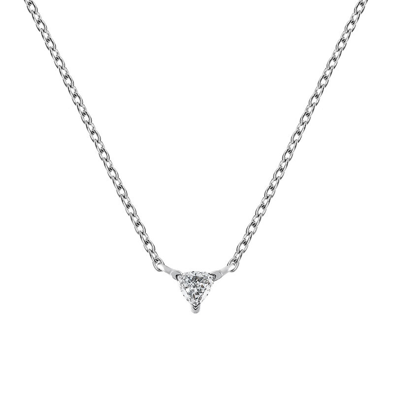 Triangle necklace diamonds 0.06 ct, J03364-01, hi-res