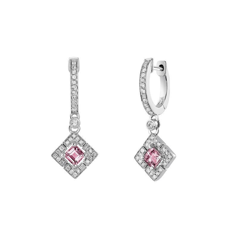 Pendientes aro cuadrado turmalina rosa plata, J03768-01-PTU, hi-res