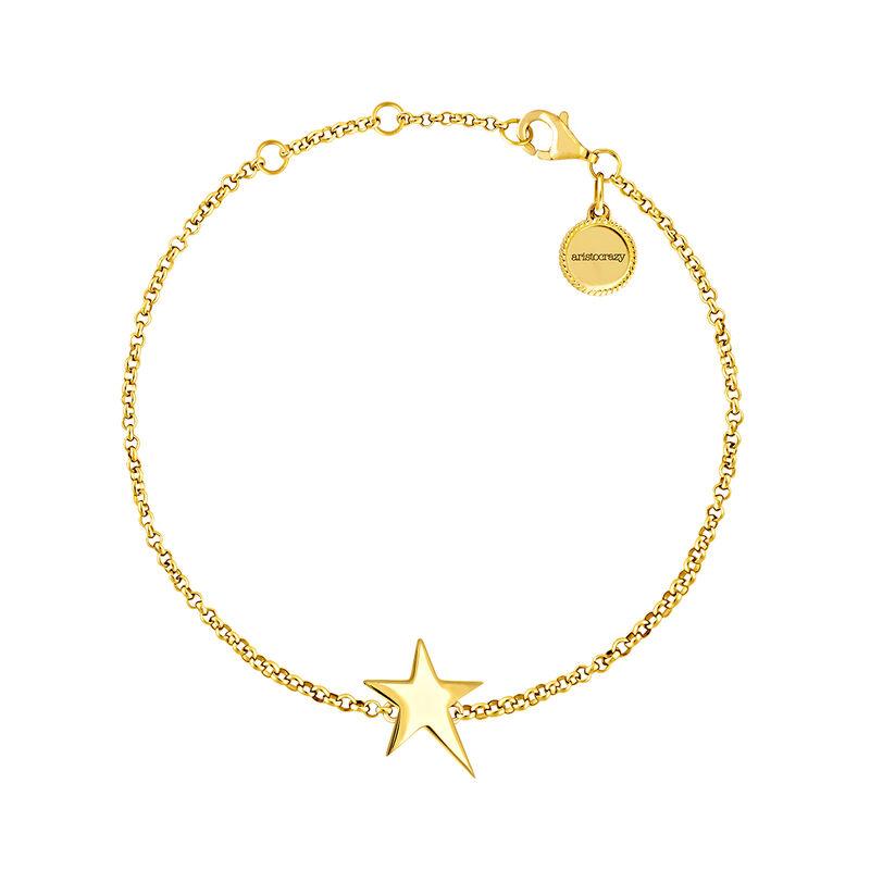 Bracelet étoile asymétrique argent plaqué or, J03791-02, hi-res