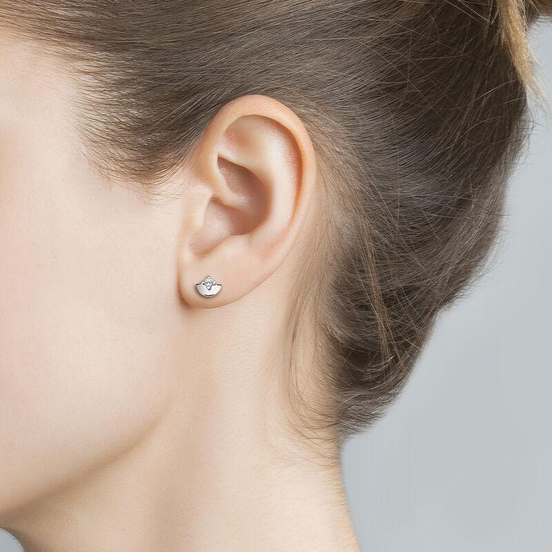 Clous d'oreilles topaze argent, J03739-01-WT, hi-res