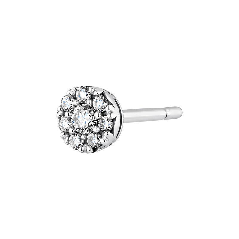 White gold 0.10 ct diamond rosette earring, J04207-01-10-H, hi-res