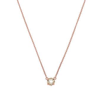 Collier vert argent plaqué or rose avec quartz vert, J01777-03-GQ, hi-res