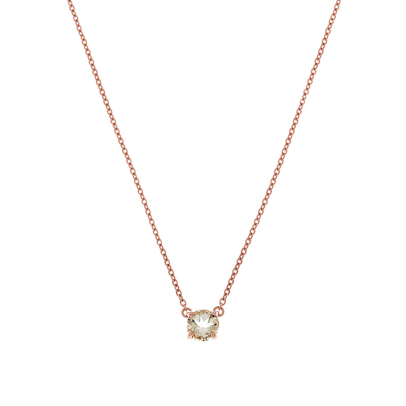 Rose gold green quartz necklace, J01777-03-GQ, hi-res