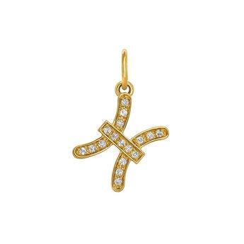Pisces gold pendant, J03602-02-WT, hi-res