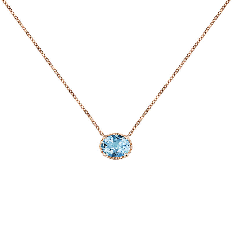 Rose gold plated topaz necklace