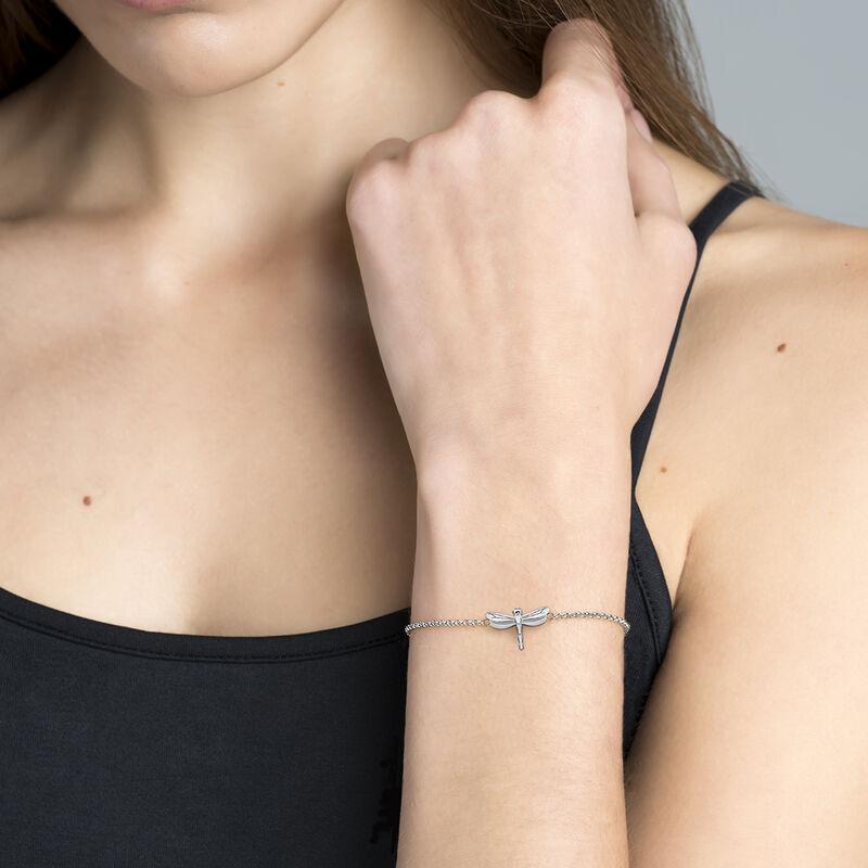 Silver dragonfly bracelet, J03182-01, hi-res