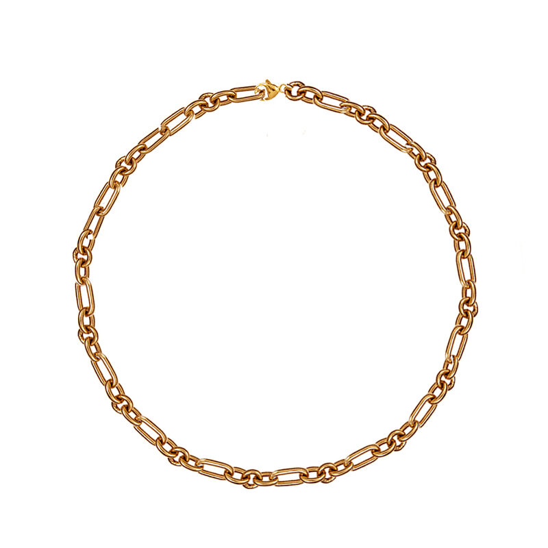 Rose gold plated forza mix links chain, J01336-03, hi-res