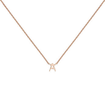 Rose gold Initial A necklace, J04382-03-A, hi-res