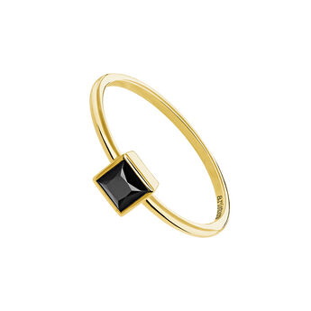 Gold plated spinel ring, J04087-02-BSN, hi-res
