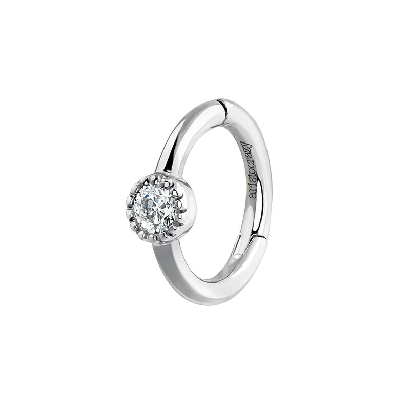 9 kt white gold piercing with 0,014 diamond, J03909-01-H, hi-res