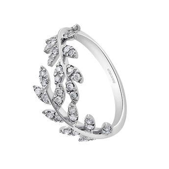 Anillo hojas diamantes plata, J03119-01-GD, hi-res