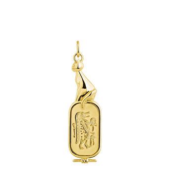 Egyptian goddess necklace gold, J04271-02, hi-res