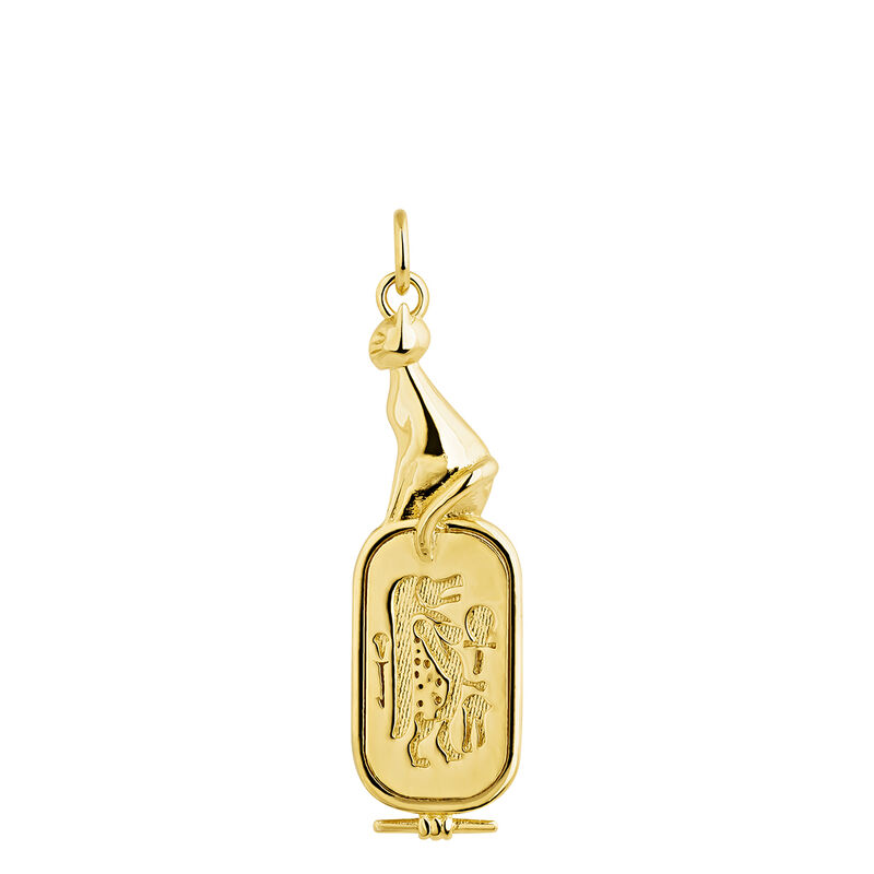 Colgante diosa egipcia plata recubierta oro, J04271-02, hi-res