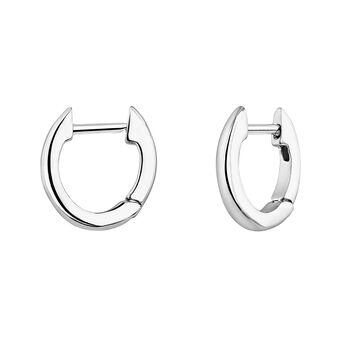 Pendientes de aro pequeño plata, J04648-01, hi-res